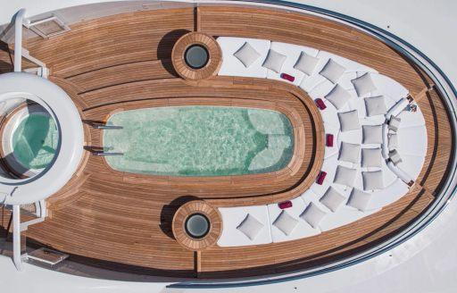Sun deck pool onboard MY Valerie