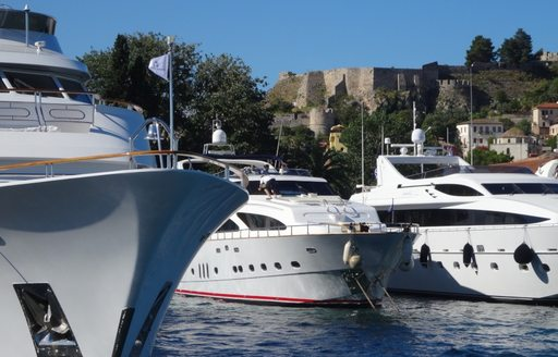 Superyachts on display at MEDYS 2014 in Nafplion