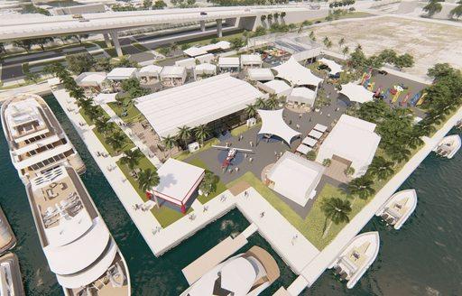 New superyacht village at pier 66 at flibs