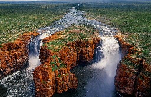 Water thunders down King George Falls in The Kimberley, Australia