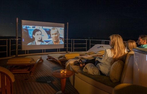 Luxury yacht My Seanna movie nights