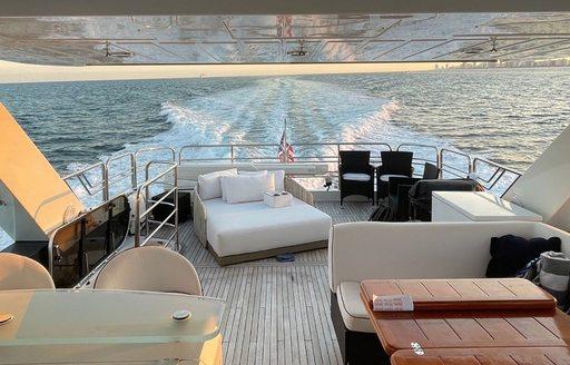 the cabana yacht outdoor area