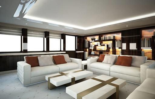 Skylounge on luxury yacht SOARING