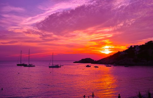 Ibiza at sunset