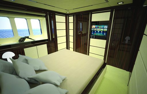 Superyacht GATSBY cabin with double bed