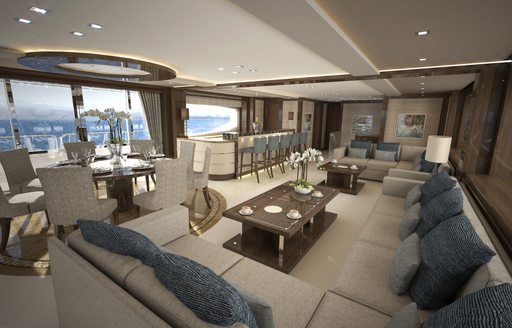 Main salon Princess AVK yacht