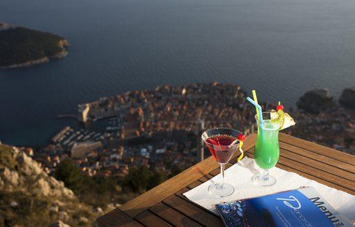 Drink at Panorama Restaurant in Dubrovnik, Croatia