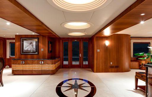 interiors of luxury motor yacht daydream