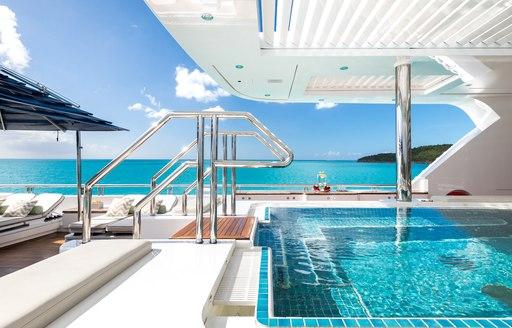 Spa pool on board motor yacht TITANIA