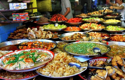 dishes at Thailand's Food Market