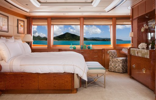 luxury yacht OASIS's master suite