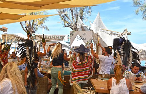 Party at Verde Beach in St Tropez