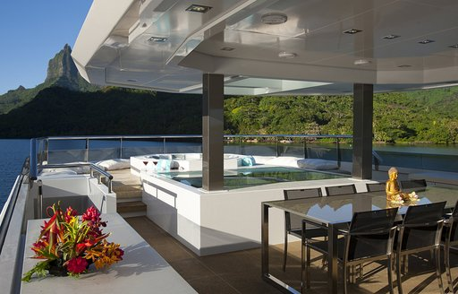 sundeck onboard expedition yacht BIG FISH