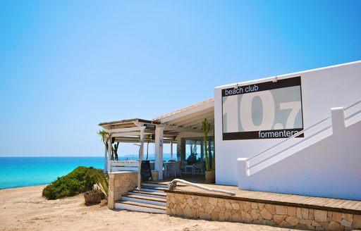 10 Punto 7 beach club in Formentera, Spain