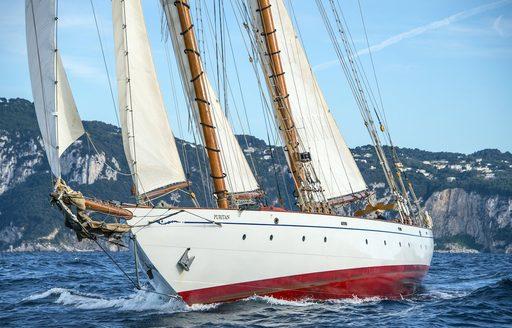 charter yacht PURITAN will compete at Les Voiles de Saint-Tropez 2017
