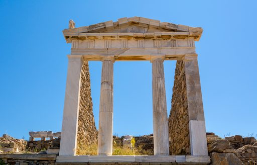 Temple of Isis on Delos, Greece