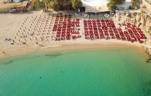 Aerial view of super paradise beach