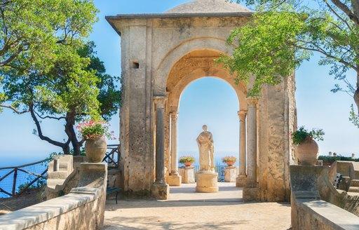 Statue of Ceremony near Villa Cimbrone in Ravello on the Amalfi Coast