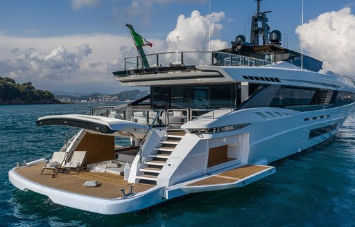 Megayacht MA beach club and aft decks