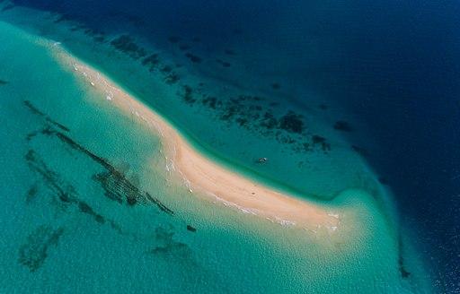 sand bar and turquoise sea in tanzania