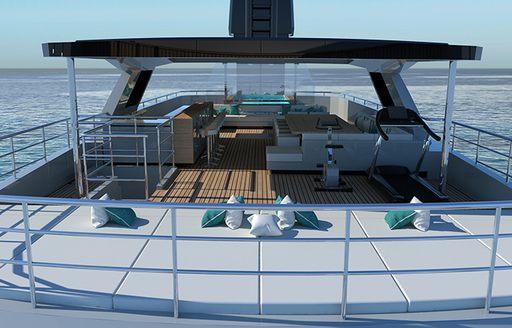 Comfortable sunpads on Explorer yacht EMOCEAN