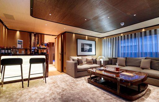 The interior of superyacht VERTIGE
