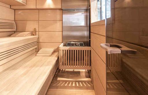Sauna onboard MY Amadeus I