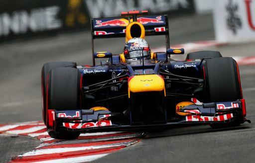Red Bull race car competing in Monaco Grand Prix