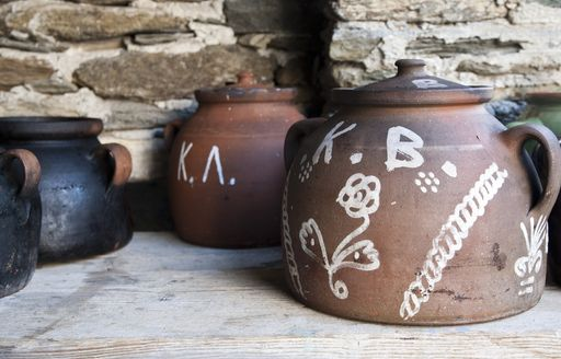 locally made clay pots for cooking in Sifnos, Greece