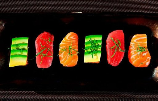 sushi at One the Rocks restaurant in St Barts