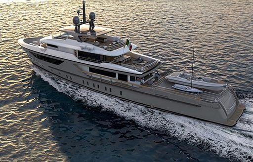 luxury yacht drifter world underway