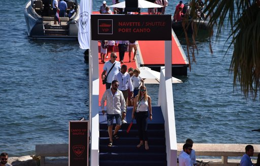 Sea-shuttle service for Cannes Yachting Festival