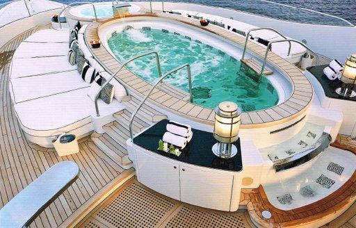 Jacuzzi pool on luxury yacht Phoenix 2