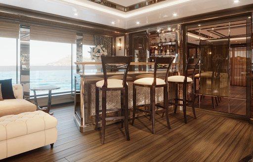 Bar on  yacht Lady Lena