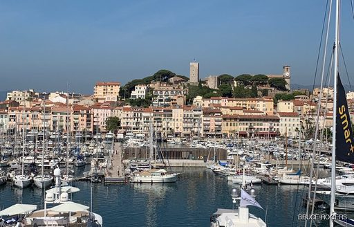 Yachts in marina at Cannes Lions 2019