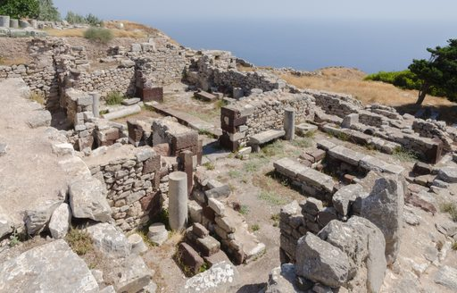 Ruins of Ancient Thera santorini