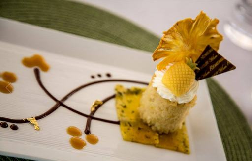dessert served up by Chef Daniela Sanchez at the Antigua Charter Yacht Show 2016
