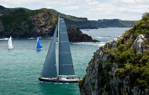 sailing yachts racing round the Bay of Islands at the NZ Millennium Cup