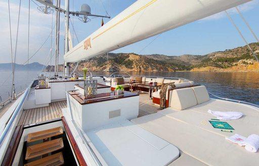 sundeck on board luxury yacht prana