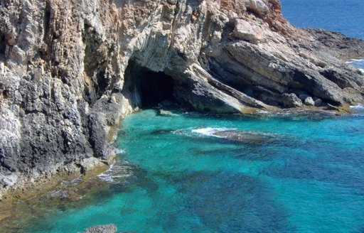 An enchanting hidden cove on the coast of the British Virgin Islands