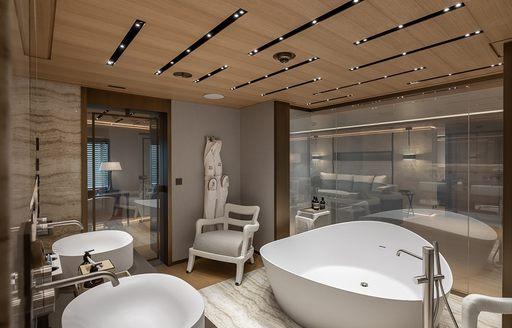 spa facilities on superyacht la datcha