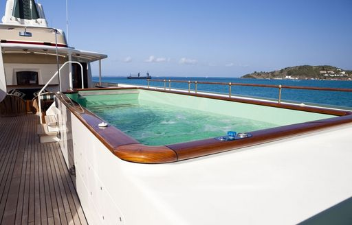 active current spa pool on sundeck of superyacht STEEL