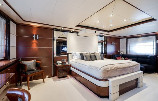 owners suite on luxury yacht magenta m
