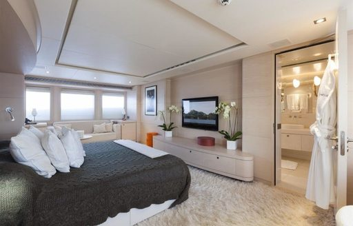 sumptuous master suite aboard luxury yacht G3