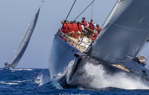Sailors racing in Loro Piana Superyacht Regatta