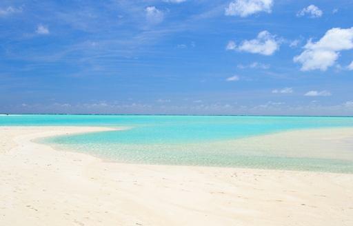 A pristine Tahitian beach in French Polynesia