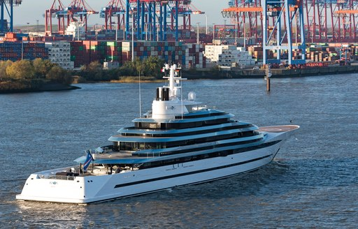 kaos yacht leaves lurssen's blohm and voss facilities