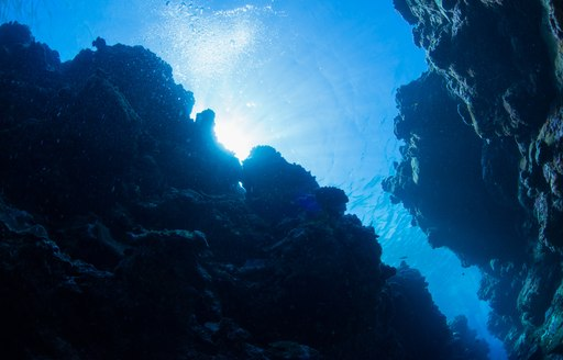 Blue Hole as seen from underwater