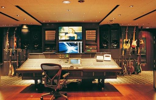 Sound studio onboard MY Octopus