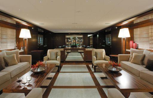 The interior of superyacht MARAYA